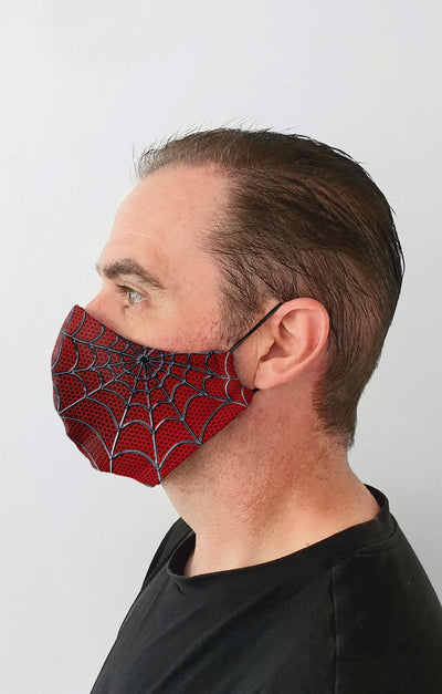 New Spidey Recycled Fabric Cotton Face Mask - Washable & Reusable