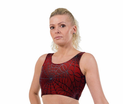 New Spidey Print Lycra Crop Top