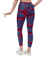 Tri Dot Geo Print Lycra Leggings