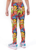 Little Monsters Print Lycra Girls Leggings