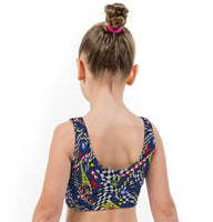 Skull Racer Print Lycra Girls Crop Top