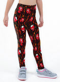 Little Devils Valentines Print Lycra Girls Leggings