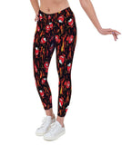 Little Devils Valentines Print Lycra Leggings