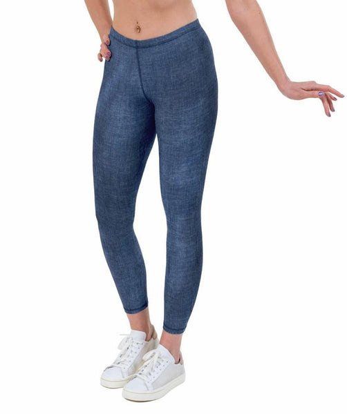 Denim Print Lycra Leggings