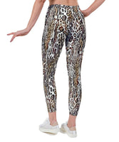 Textured Leopard Print Lycra Leggings