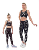 Disco Star Christmas Print Matching Set