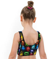 Blotto Print Lycra Girls Crop Top