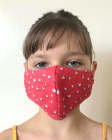 Kids Washable & Reusable Antimicrobial Face Mask - Kittens Pattern - One Size