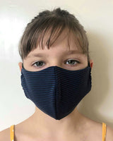 Kids Washable & Reusable Antimicrobial Face Mask - Stripes Pattern - One Size