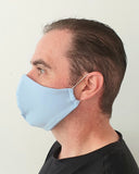 Pale Blue Cotton Face Mask - Washable & Reusable