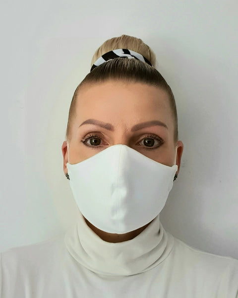 White Cotton Face Mask - Washable & Reusable