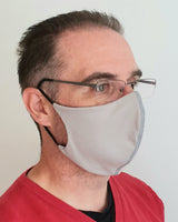 Grey Antimicrobial Face Mask with Filter Pocket - Washable & Reusable