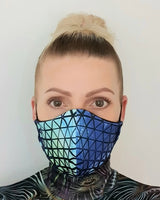 Tri-Tech Print Recycled Fabric Cotton Face Mask - Washable & Reusable