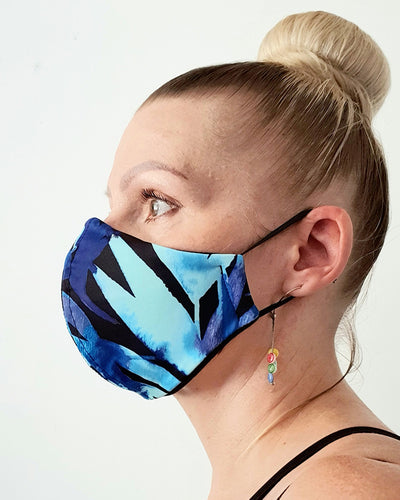 Water Palm Print Cloth Face Mask - Washable & Reusable