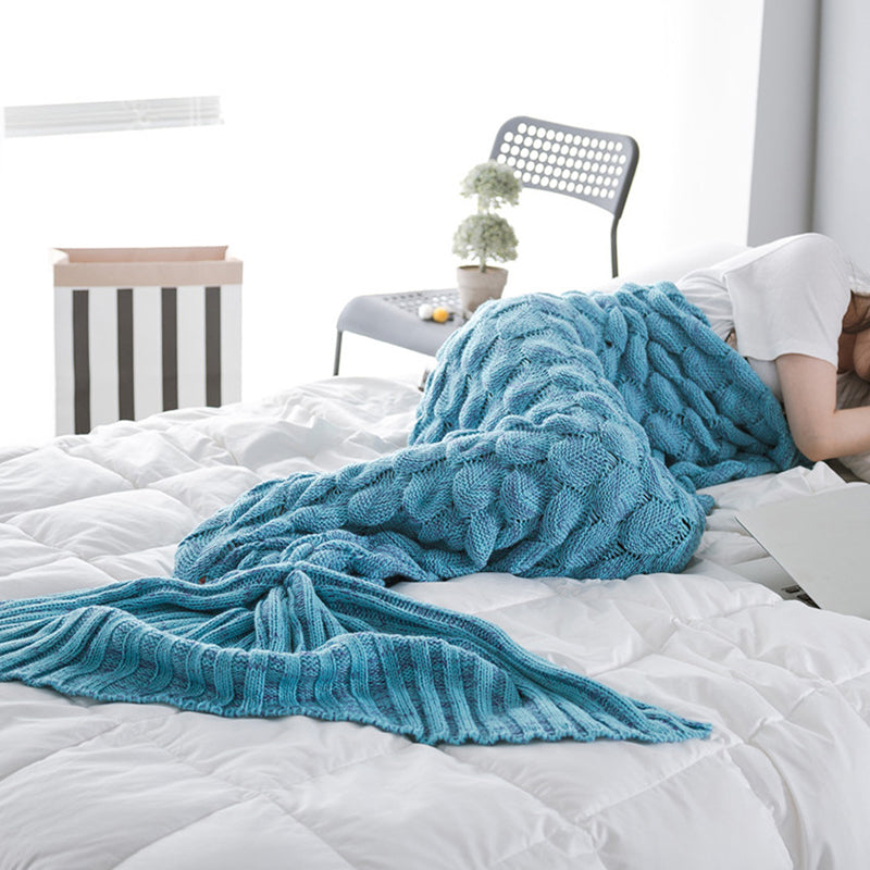Fish scale mermaid blanket