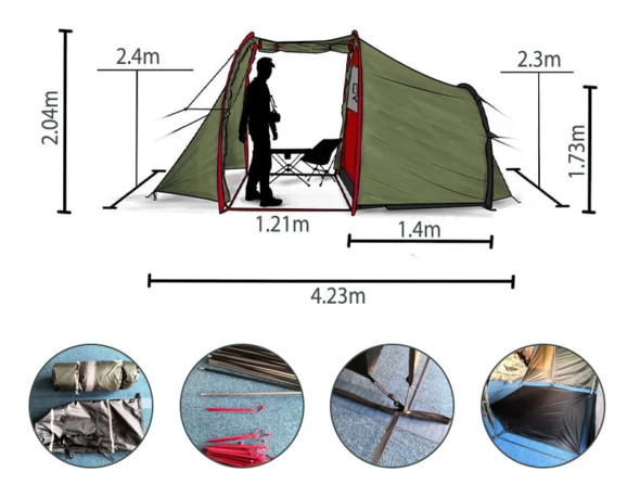 Motorcycle Camping Tent for bikers