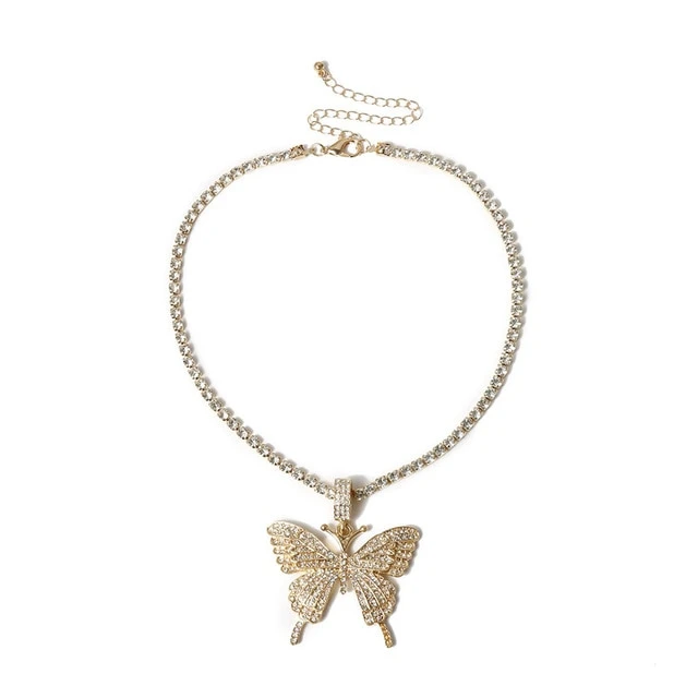 ZANETA CRYSTAL BUTTERFLY NECKLACE