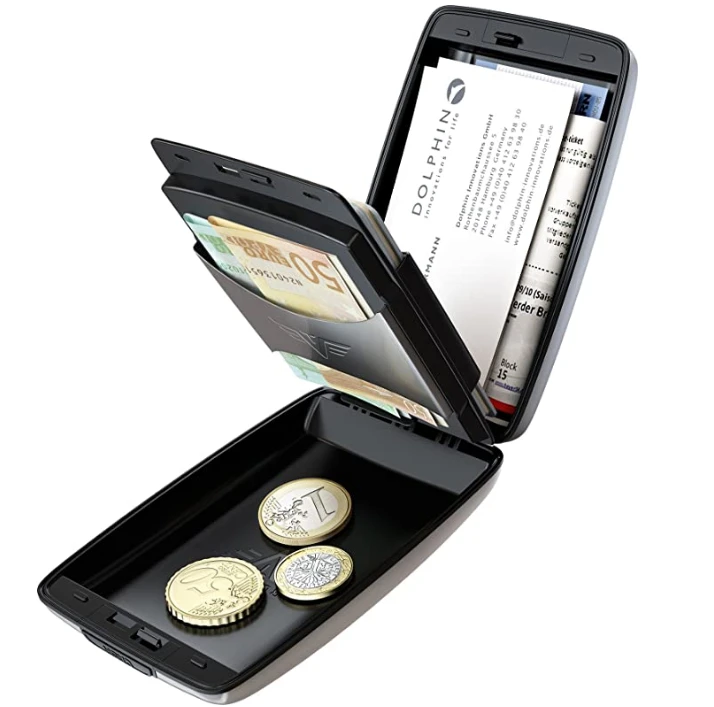【+200 get second one】RFID Secure Cash and Cards Wallet