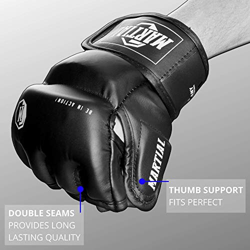 Martial MMA gloves with high quality padding! Boxing gloves for high stability in the wrist. Freefight gloves with long durability for martial arts, boxing, kickboxing