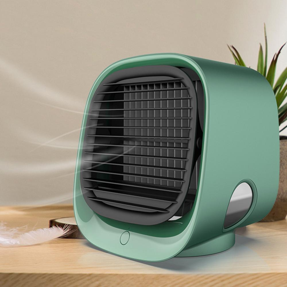 Mini Air Cooler Fan, Air Conditioner, with Night Light and Mini USB - For personal use, perfect for getting a cool peaceful sleep on a hot summer night WizWack