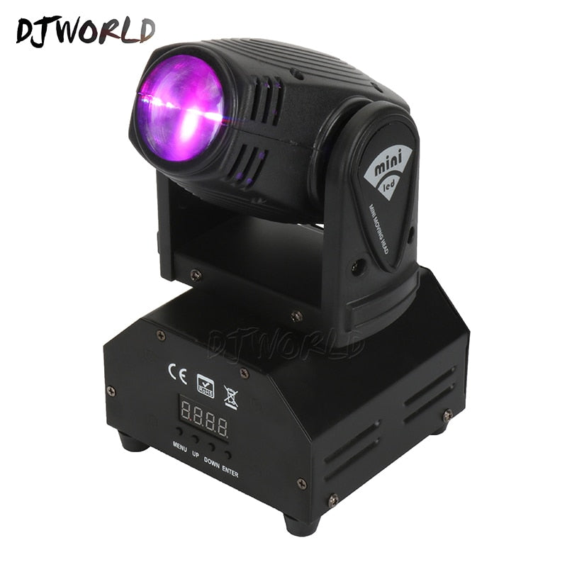DJworld LED Spotlight With DMX512 10W RGBW LED  Business Lights with Professional for Party KTV Disco DJ Party Club Dance Floor - WizWack