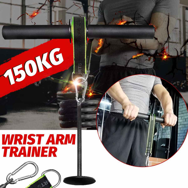 Forearm Strength Trainer Wrist Hand Grip Hand Strength Exerciser Weight Lifting Rope Waist Roller Equipment Gym Fitness Workout