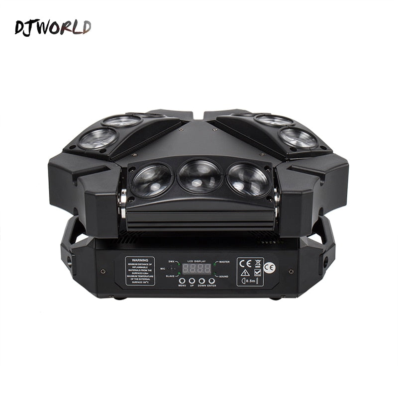 Mini LED Beam 9x10W Spider DMX512 Stage Effect Lighting Good For DJ Disco Party Dance Floor Nightclub And Christmas Decorations - WizWack