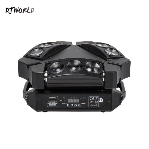 Mini LED Beam 9x10W Spider DMX512 Stage Effect Lighting Good For DJ Disco Party Dance Floor Nightclub And Christmas Decorations