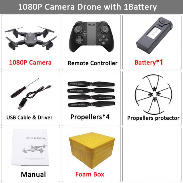Visuo XS816 RC Drone with 50 Times Zoom WiFi FPV 4K Dual Camera Optical Flow Quadcopter Foldable Selfie Dron VS SG106 M70 - WizWack