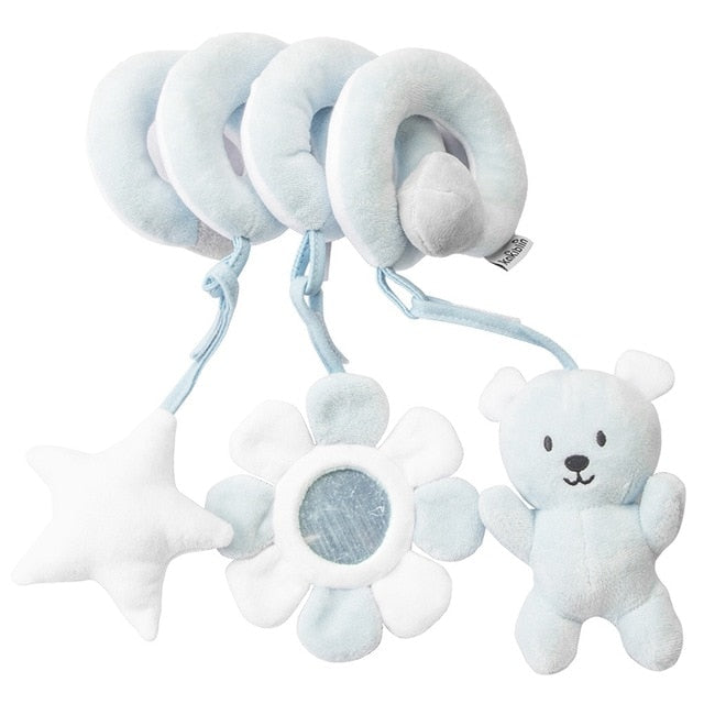 Rattles Mobile To Bed Baby Toys Cute Crib Stroller Spiral Newborn 0-12 Months Educational Cartoon Animals Soft Infant Rattle Toy - WizWack