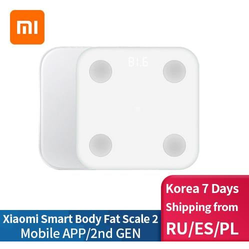 Xiaomi Smart Body Fat Composition Scale 2 Bluetooth 5.0 Balance Test 13 Body Date BMI Health Weight Scale LED Display - WizWack
