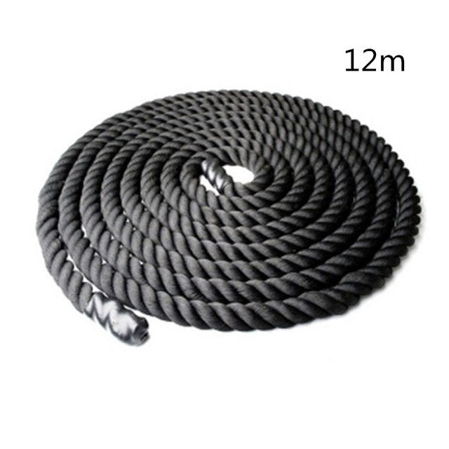 12/15M Heavy Black Undulation Fitness Rope, Muscle Fitness Equipment