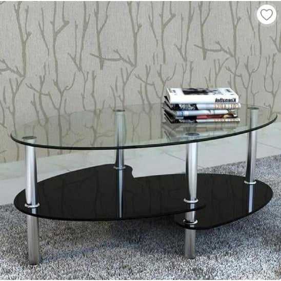 Creative Round Nordic Coffee Table, Tempered Glass