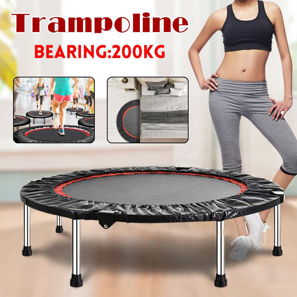 40 inch Round Kids Mini Trampoline Pad Outdoor Exercise Jump Elastic Home Toys Jumping Fitness Bed Max Load 200KG - WizWack