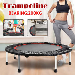 40 inch Round Kids Mini Trampoline Pad Outdoor Exercise Jump Elastic Home Toys Jumping Fitness Bed Max Load 200KG