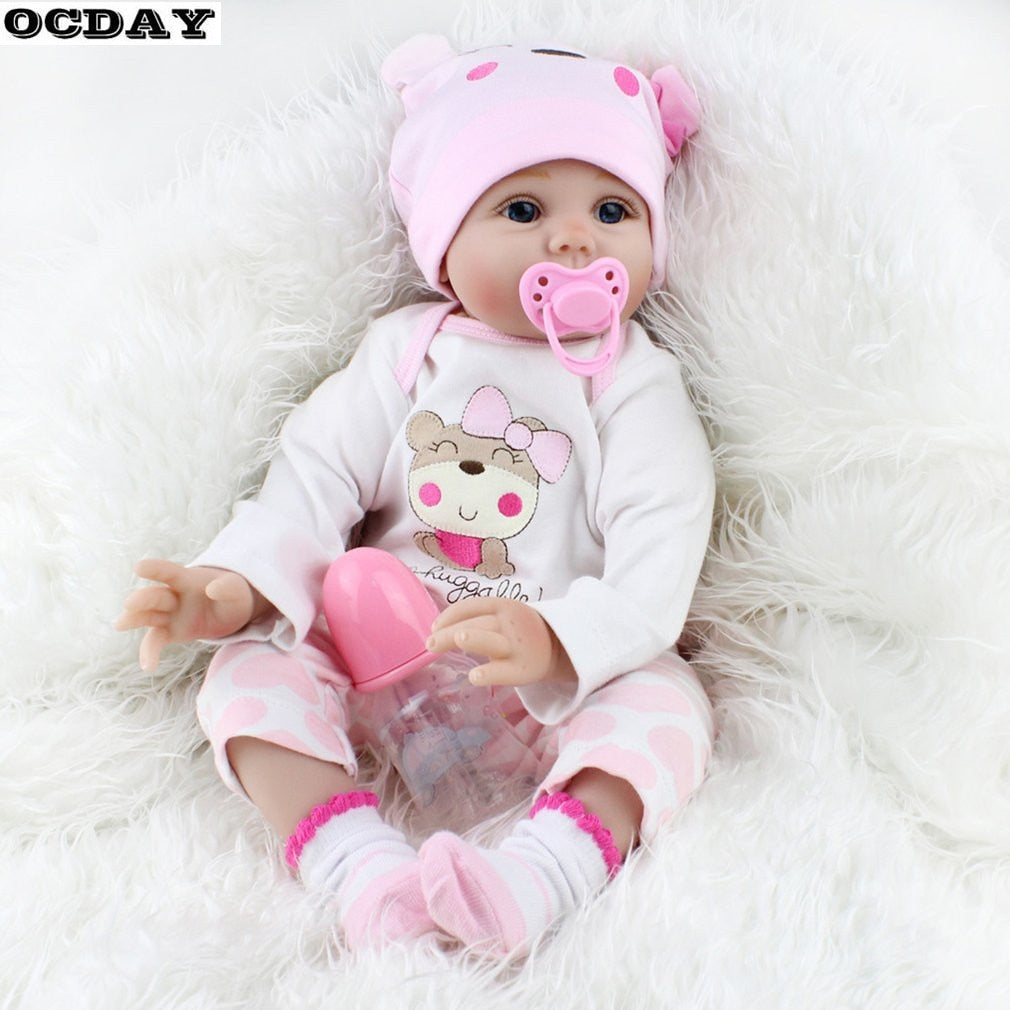 Cute Kids Baby Doll Soft Newborn Doll Girls Toy Birthday Gifts For Child Bedtime Early Education - WizWack