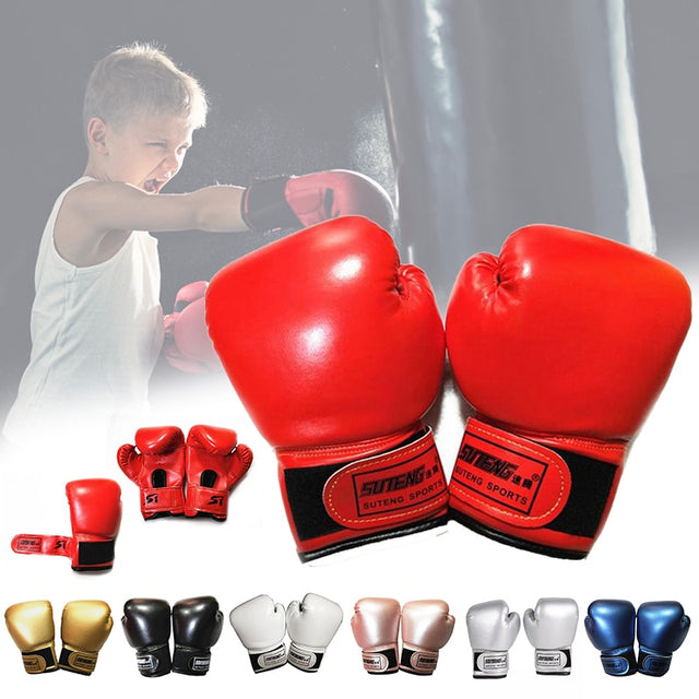 2-8 Years Kids Boxing Gloves For Fun Muay Thai Fight Sanda Martial Arts Bag Punching Training Mitts Gear Exercise