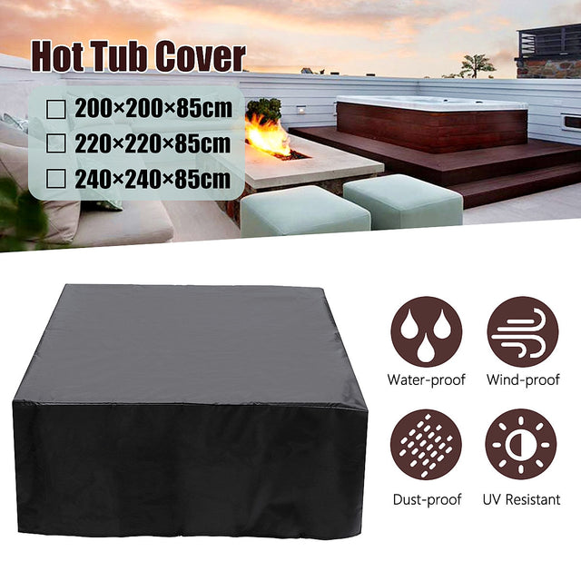 Universal Hot Tub Dust Cover Cap Waterproof Jacuzzi UV Proof All-Weather Spa Cover Cap Protector Hotspring Snow Rain Dust Covers
