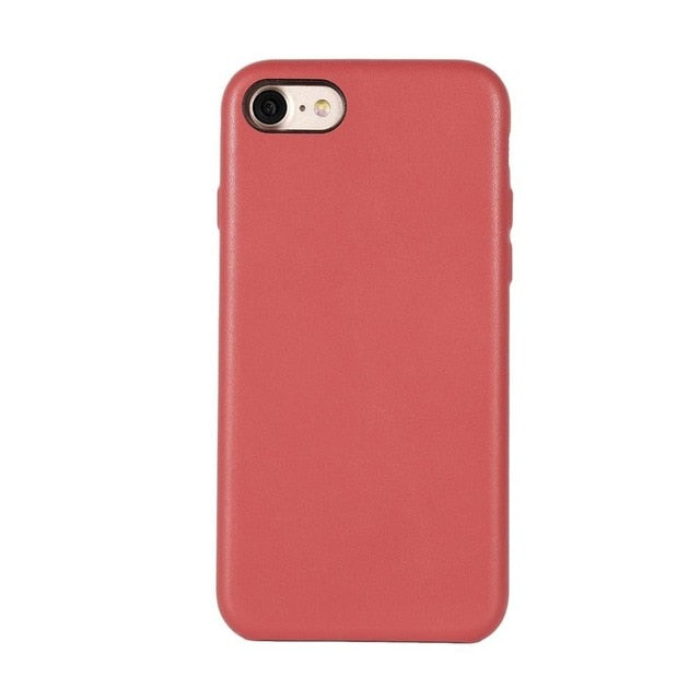 Ultra Thin Mobile Phone Case Cover Lightweight PU Anti-drop Mobile Phone Protective Cover Shell Case for Iphone 7 - WizWack