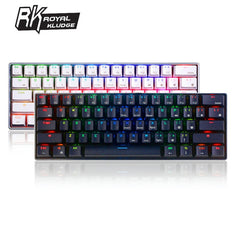 Image of Royal Kludge RK61 Ergonomic bluetooth Wired Dual Mode 60%RGB Light Mechanical Gaming Keyboard for Laptop Tablet or Mobile Phones