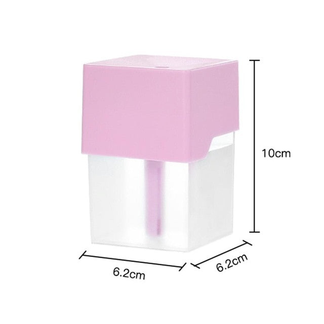 Mini Ultrasonic Air Humidifier Romantic Soft Light USB Essential Oil Diffuser Car Purifier Aroma Anion Mist