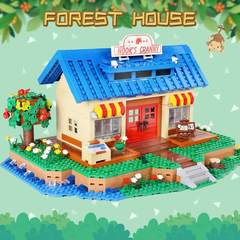 Streethouse Building Toys The Animal Crossing House Assembly Bricks Model Building Blocks Kids Toys Gifts - WizWack