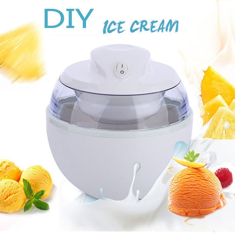 220V Household Ice Cream Maker Ice Cream Machine Portable Ice Maker Available Easy Operation High Quality 0.6L 500-1000ml ICOCO