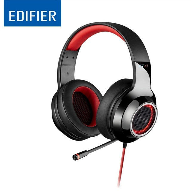 EDIFIER G4 Gaming Headset Virtual 7.1 Sound Channels with Vibration Effect USB Wired Noise Isolating Ear Cups Gamer Headphones - WizWack