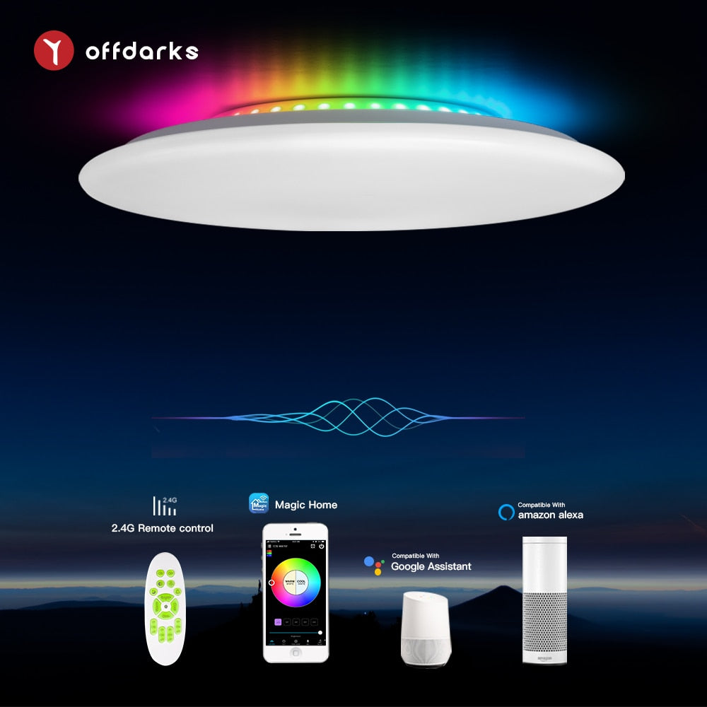 OFFDARKS smart ceiling light APP/WIFI voice control RGB dimming remote control ceiling lamp for kitchen, living room, bedroom - WizWack