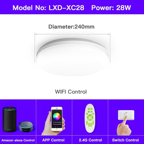 OFFDARKS smart ceiling light APP/WIFI voice control RGB dimming remote control ceiling lamp for kitchen, living room, bedroom