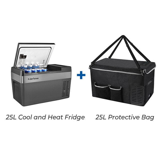 25L Portable Car Refrigerator Cooler 12V/24V 45W Travelling