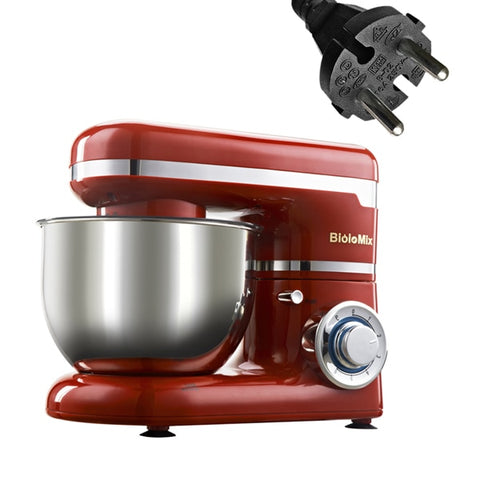 BioloMix Stand Mixer Stainless Steel Bowl 6-speed Kitchen Food Blender Cream Egg Whisk Cake Dough Kneader Bread Mixer Maker