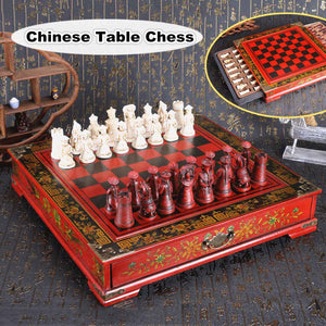 26x25. 5x6.3cm Wooden Table Chess Folding Classic Chinese Chess For Adult Kid Game Entertainment Gift Beginner Large Chess Board