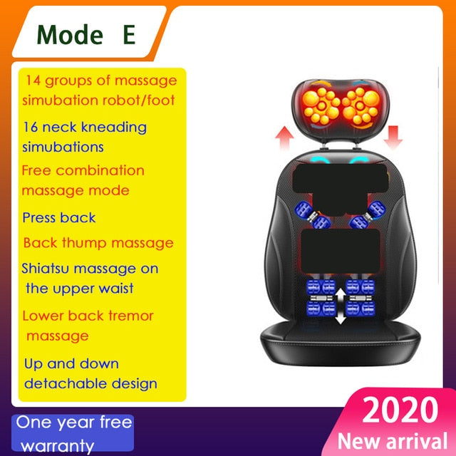 Electric full body massage chair neck back waist massage cushion heat & vibrate massage pad as a gift for wife parents